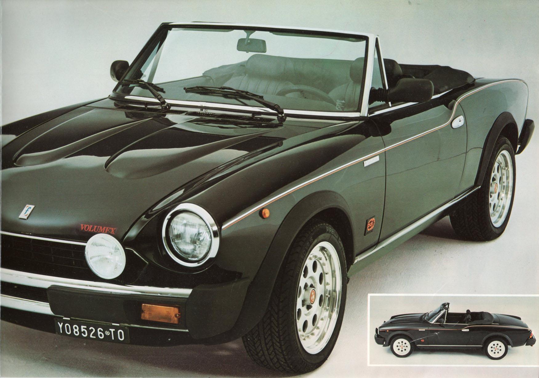 Fiat 124 Spyder >> Depliant. Registro Nazionale Fiat 124 Sport Spider